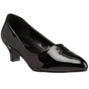 Pleaser USA FAB 420W wide fitting shoe in black patent