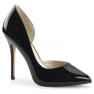 Amuse 22 by Pleaser USA in black patent