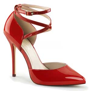 Amuse 25 Red Patent by Pleaser USA