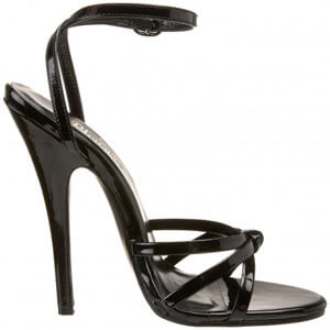 Domina 108 open to strappy sandal with six inch stiletto heel by Pleaser USA