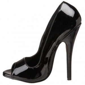 Domina 212 peep toe classic court six inch stiletto heel shoe by Pleaser USA