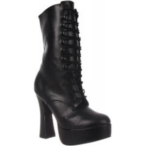 Electra 1020 six inch lace-up block heel boots by Pleaser USA