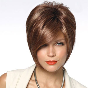Kate Noriko Wig - Short style with high crown volume.