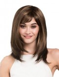 Katie economy wig - medium length face framing style wig