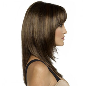Laurel Monofilament parting wig with soft subtle fringe that will frame your face