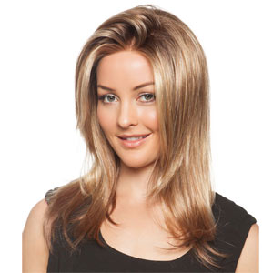 Bluebell lace front mono parting styled wig from the natural collection.