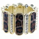 Diamante animal print bracelet