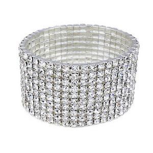 <strong>B9 </strong>Ten Row Diamante Expanding Bracelet