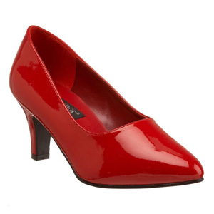 Divine 420W by Pleaser USA in Red Patent.