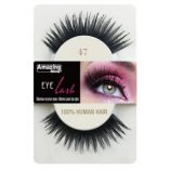 Amazing shine lashes 47 100% human hair false eyelashes.