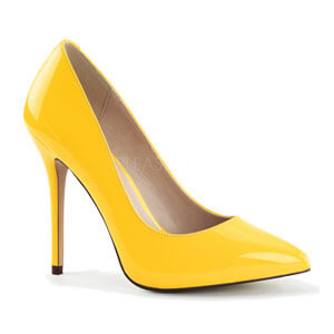 Amuse 20 neon yellow court shoe Pleaser USA