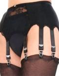 lace panel 10 drop suspender belt
