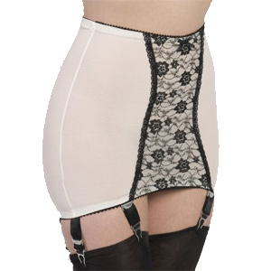 1ca1dacc6d9 long line retro girdle inspired retro design with 6 metal clasps
