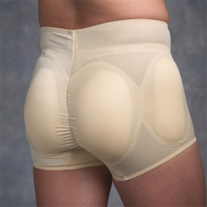 Cross dressing padded panty for additional curves
