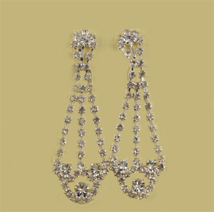 Diamante cradle clip earrings