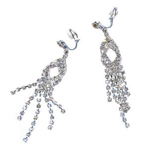 Oval eyelet diamante earrings 7697798