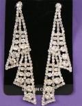 Diamante triangular earrings