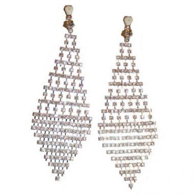 Chequered Board Diamante Earrings