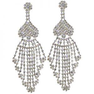 Showgirl drop diamante earrings