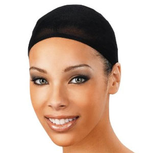 Wig cap available in black or nude.