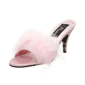 Amour-03 by Pleaser USA in Pink Satin finish