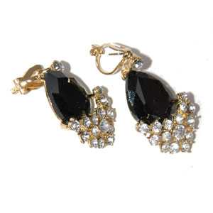 Black diamante encrusted earrings