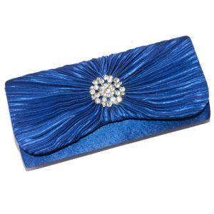 Blue and diamante encrusted evening bag