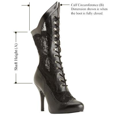 Victorian 116X boot dimensions
