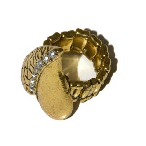 Elasticated Rhinestone Ring