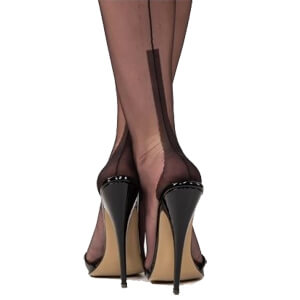 Fully fashioned stockings Susan heel