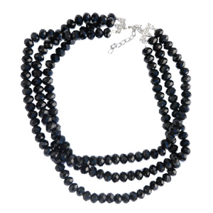 Three-Row beaded choker