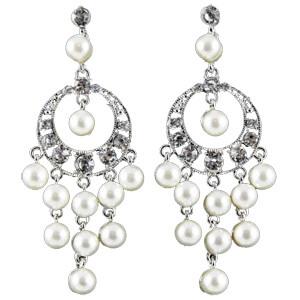 Silver Pearl Drop Earrings