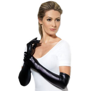 Long Length Wet Look Gloves