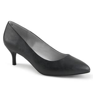 Kitten-01 black faux leather