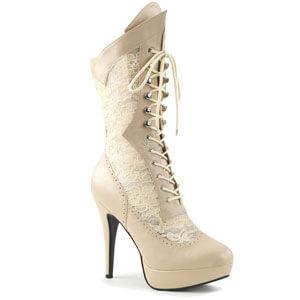 Chloe 115 calf boot Cream faux leather