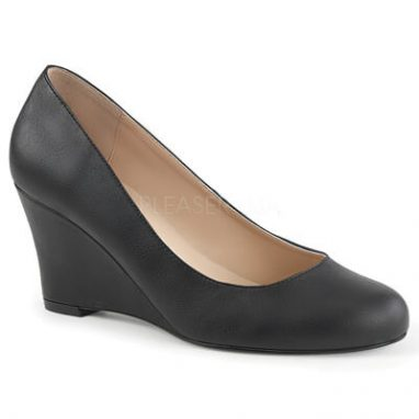 Kimberly 08 black faux leather