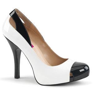 38e05acf8c5 EVE 07 - two tone patent finish closed toe court shoe with 5 ...