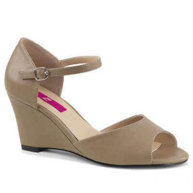 Kimberly-05 taupe faux leather
