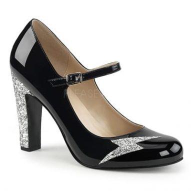 Queen 02 Black patent / silver