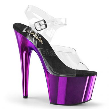 Pleaser usa Adore 708 Clear Purple Chrome