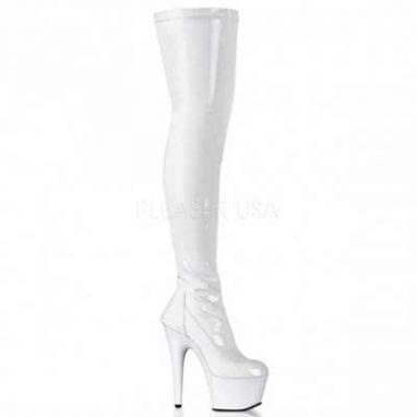 Adore 3000 white stretch patent