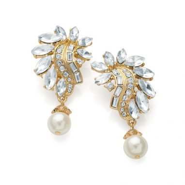 <strong>ER4 </strong> Cream pearl effect clip on earring