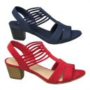 Ladies block heel sandals