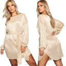 Gold Metallic Shift Dress