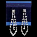 Diamond crystal drop earrings