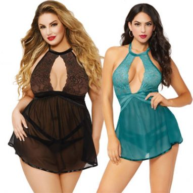 Lace and Mesh Babydoll