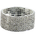 Eight Row Diamante expanding bracelet