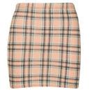 Tartan Jersey Mini Skirt