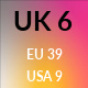 UK 6 / US 9 / EU 39