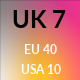 UK 7 / US 10 / EU 40